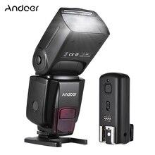 Yeni Andoer AD560 IV 2.4G kablosuz evrensel on kamera Speedlite flaş işığı GN50 w/ FlashTrigger Canon nikon Sony DSLR için