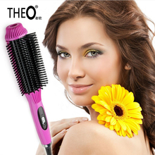 Cheaper Newest Design Fast Hair Straightener Comb Anti-scald Hair Curler Brush Electric Straightening Irons Hair Comb