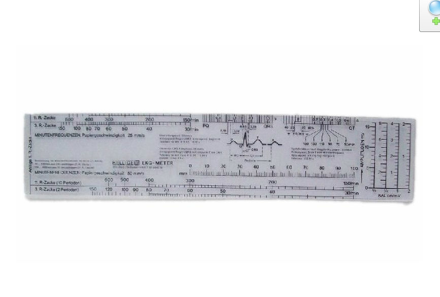 Professional medical cardioelectric potential ruler scale Heart rate - Oral Hygiene