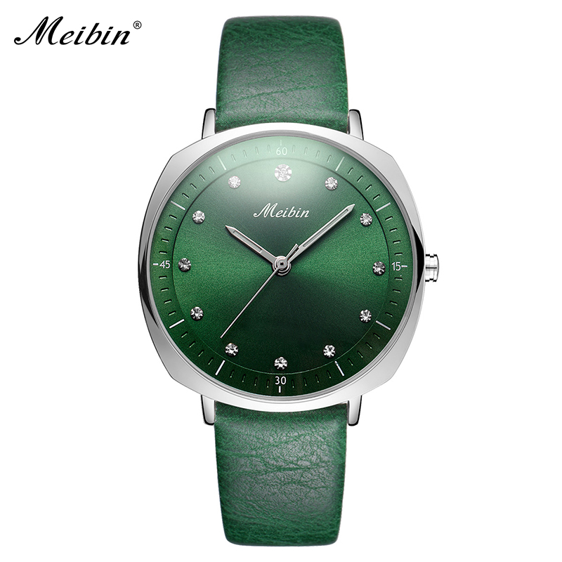 цены MEIBIN Luxury Diamond Women Watches High Quality Elegant Square Ladies Wrist Watch Woman Clock Waterproof Dress Wristwatch