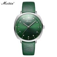 MEIBIN Luxury Diamond Women Watches High Quality Elegant Square Ladies Wrist Watch Woman Clock Waterproof Dress Wristwatch