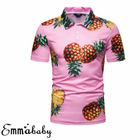 Men Fruit Print Shor...