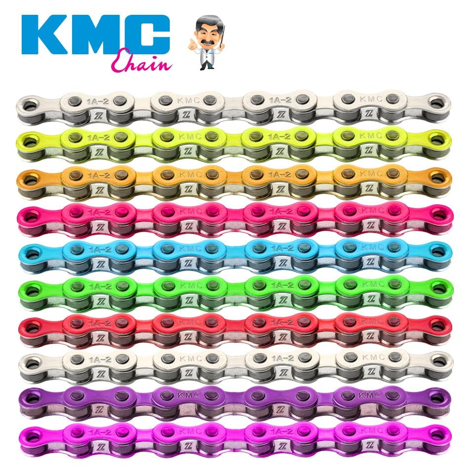 KMC Z410 1/8 Single Speed Chain Fixed Gear bicycle Chain 112L Urban Leisure Bike Folding Bike Chain Multi-Color Bicycle Chain цена