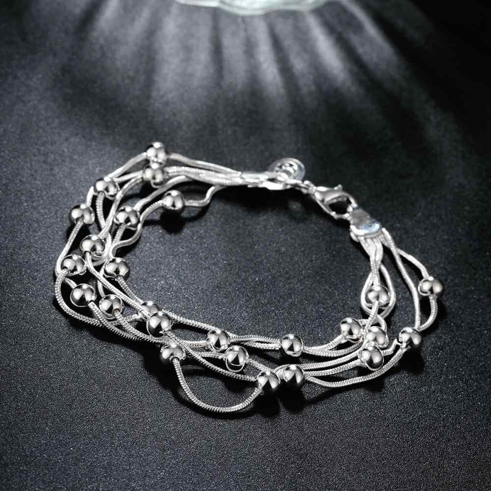 Шарм цепочка для браслетов посеребреная цепочка браслет для мужчин и женщин унисекс цепочка Ювелирная H234 Свадебные украшения Браслеты