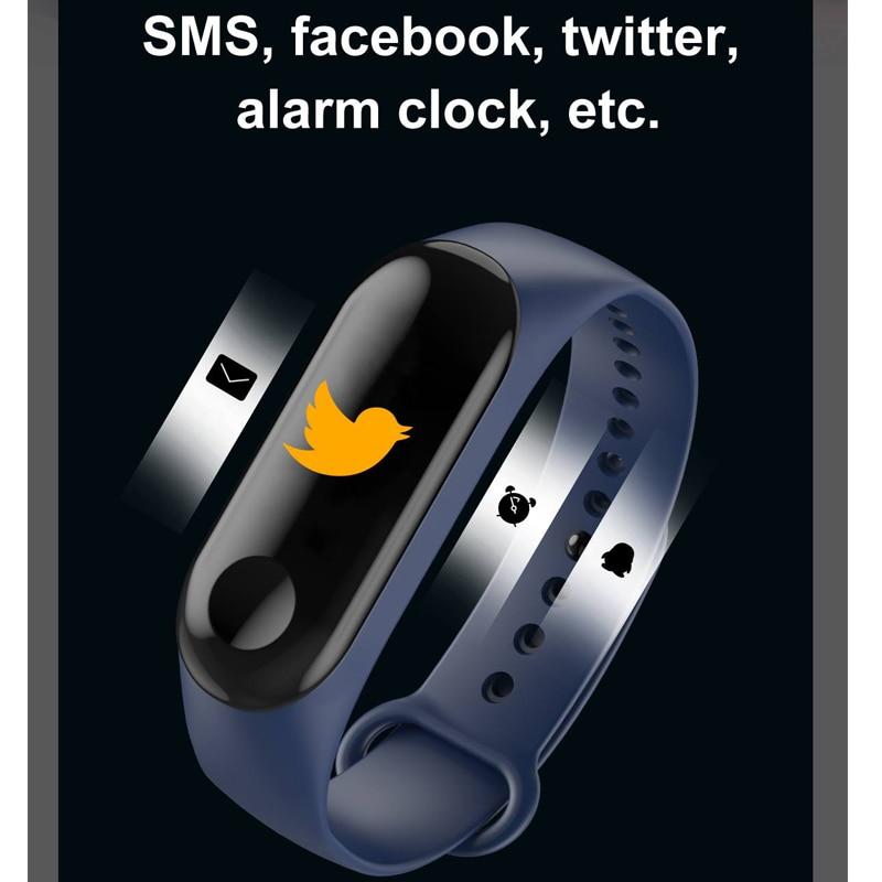 Fitness Bracelet Color Screen Smart Watch Sport IP68 Waterproof Blood Pressure Oxygen Activity Tracker For Men Women Watches