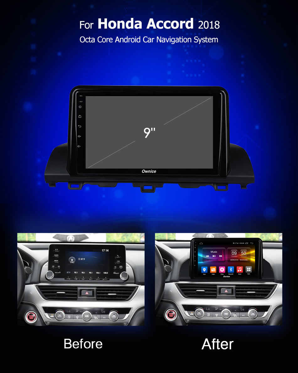 Ownice K1 K2 K3 K5 K6 Android 9,0 8 Core 2Din автомобильный DVD gps для Honda Accord 2018 Поддержка Радио Навигация 4G LTE DSP 360 панорама