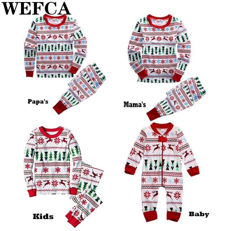 Family Matching Outfits Christmas Homewear Clothes Father Mother Kids