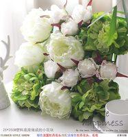 25 см * 25 см искусственного шелка светло зеленый цветок пиона стены Свадебные украшения Home Decor партия цветы фоне стены деор