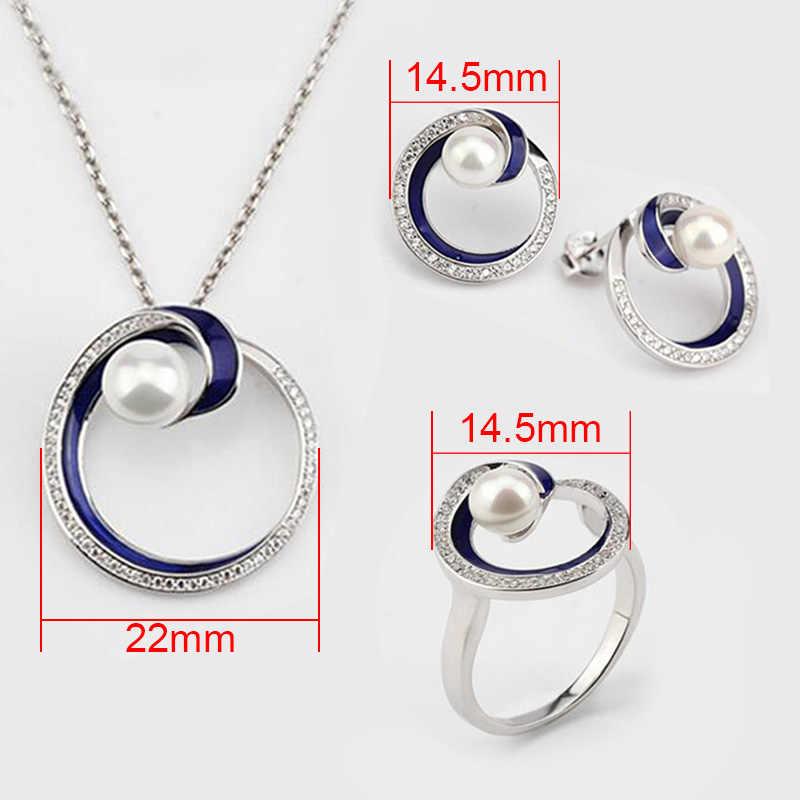 925 prata esterlina jóias para mulheres água doce pérola casamento noivado jóias para mulheres colar de noiva j3108s