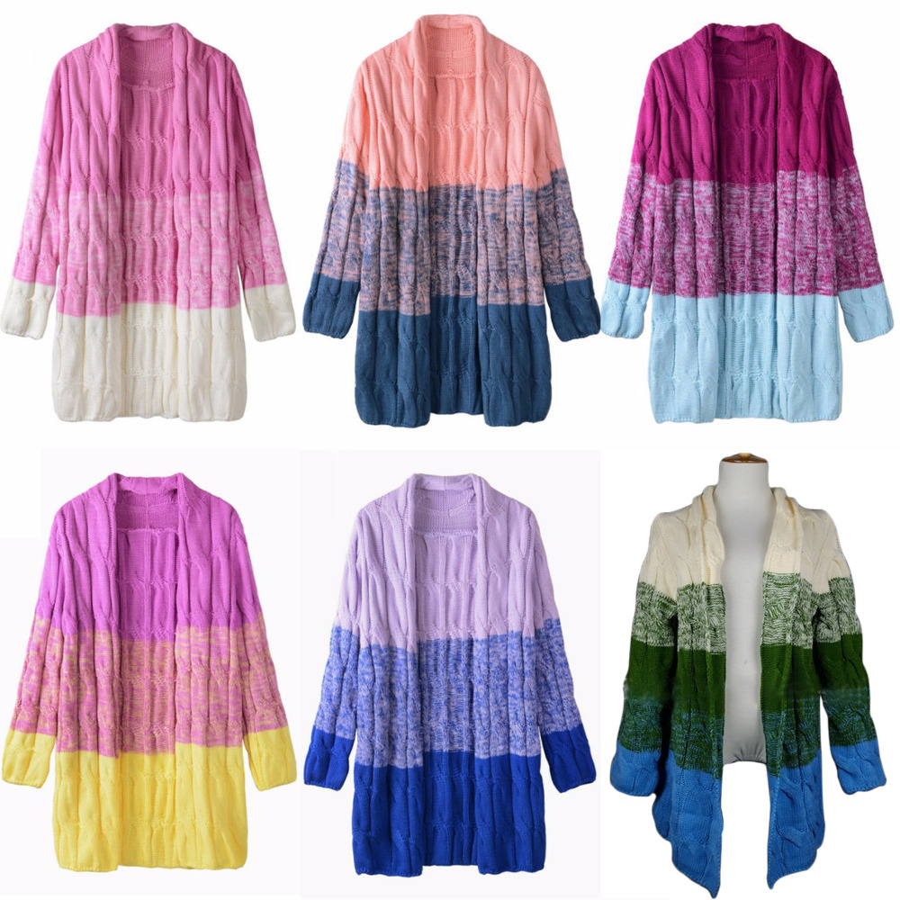 Women Twisted Cardigans Free Cable Knitting Pattern Tie Dye Color ...