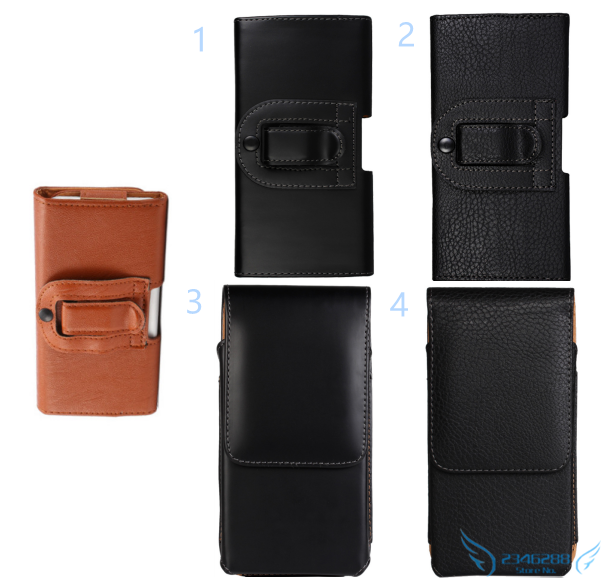Smooth/Lichee Pattern Leather Waist Bag Clip Belt Pouch Mobile Phone Accessory Holster case cover skin For Sony Xperia XA Ultra