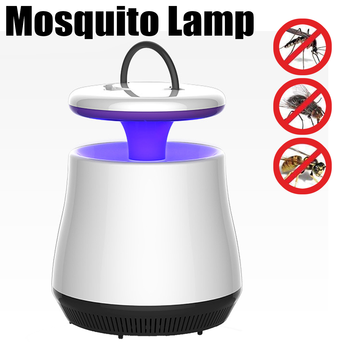 White LED Light Bug Zapper Mosquitoes Insect Killer Repellents Purple Daylight Lamp Home Garden Pest Control Tools 3W 220V