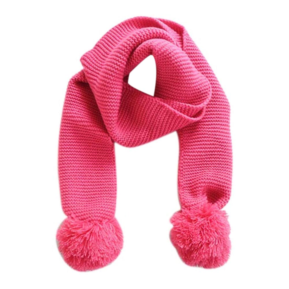 Girl's Scarves Autumn Winter Warm Children Knitted Scarf Handmade Ball Baby Neck Sleeve Candy Color Ball Scarf Kids Scarf