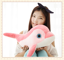 new lovely plush pink dolphin toy cute stuffed dolphin doll gift about 40cm