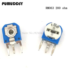 20pcs RM063 200 ohm blue and white can be adjusted resistance potentiometer 200R