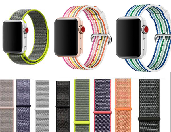 strap for apple watch Sport loop nylon band 42mm/38mm/40mm/44mm for bracelet woven strap for iwatch straps series 4/3/2/1