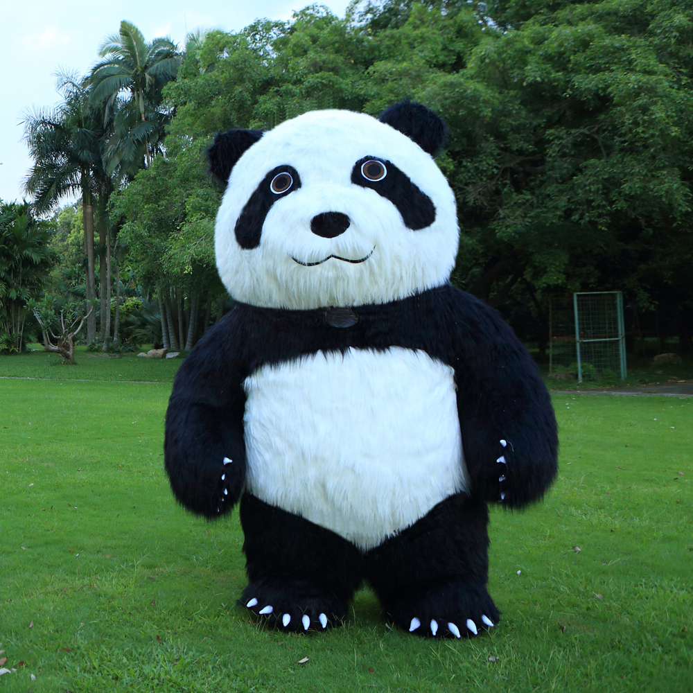 2M tall Animal cartoon Panda Inflatable Costume Mascot for Adult Suitable For 1 6m To 1