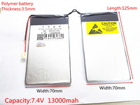 7 4V 13000mAh DIY U30GT U30GT1 U30GT2 Dual Four Core Tablet Pc Rechargeable Batteries 33161125 Size