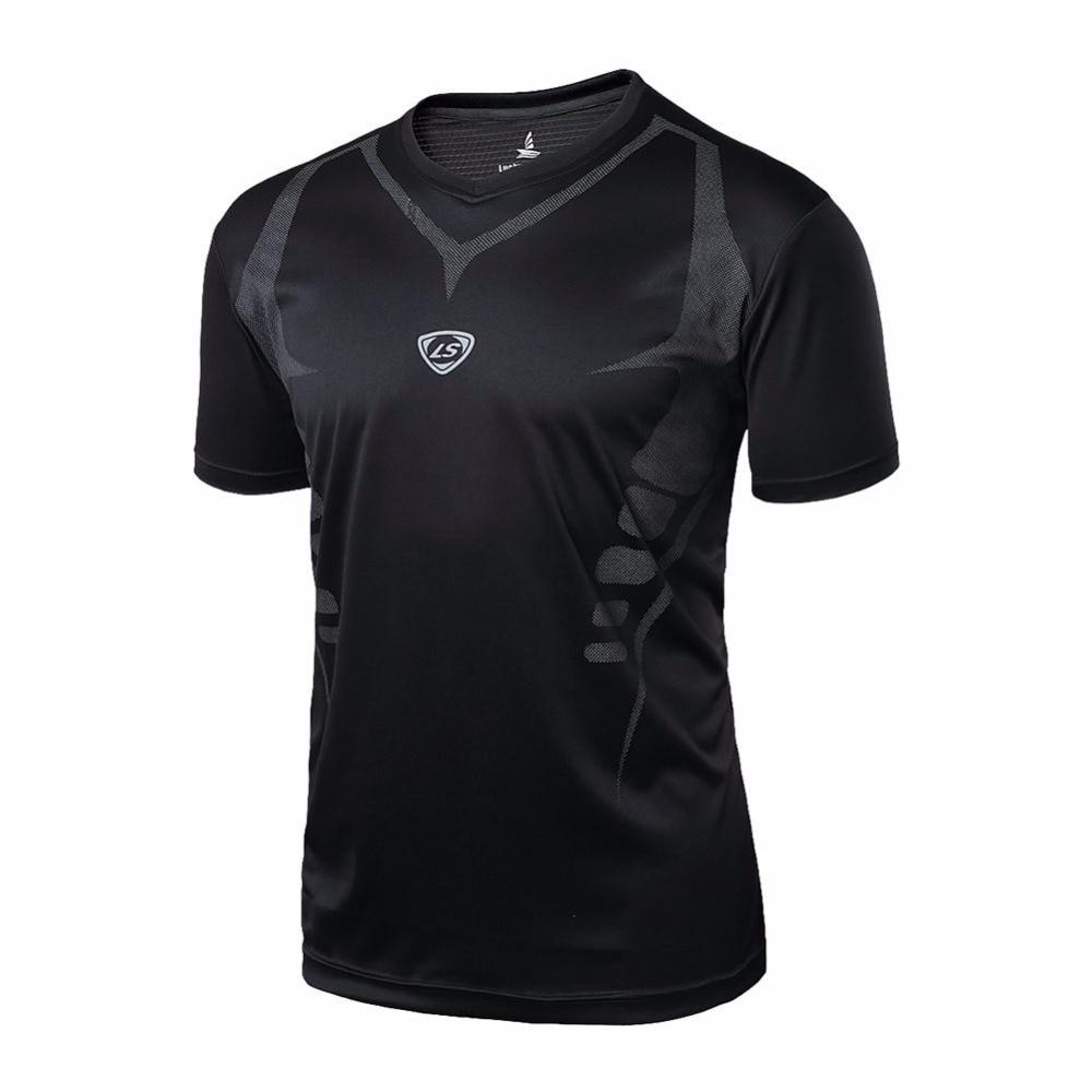 2018 Sport Männer Schnell Trocknend Wicking Laufende T-shirts Mallas Hombre Ausbildung Kompression Atmungsaktivem Sport Fitness Gym Shirts