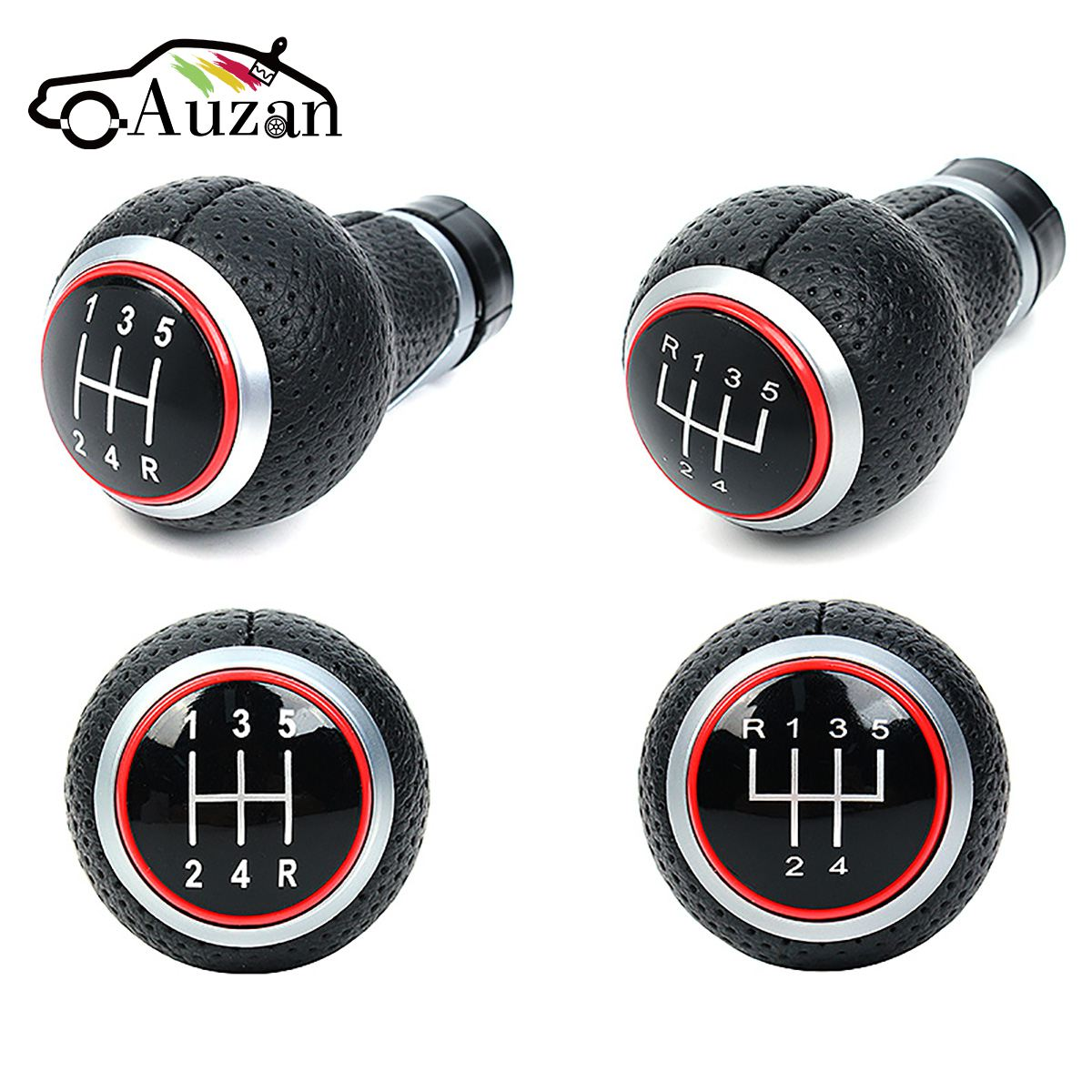 2 Types 5/6 Speed Gear Shift Knob For Audi A4 S4 B8 8K A5 8T Q5 8R S Line 2007-2015 Manual Leather Red Line