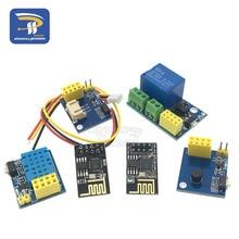 ESP8266 5 в Wi-Fi Релейный Модуль DS18B20 DHT11 RGB светодиодный пульт управления, умный дом, пульт дистанционного управления, телефонное приложение, ESP-01S