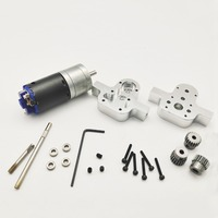Upgrade DIY Transfer Case with Motor for WPL 4WD 6WD RC Car Crawler Special Metal Box Fittings Accessories