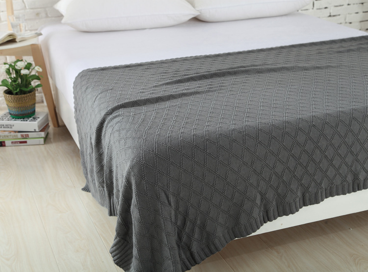 Knitted Blanket Bed Cover Bankets Super Soft & Warm Plaid on the bed / Sofa 100% Cotton Bedspreads manta 120*180/200*180cm