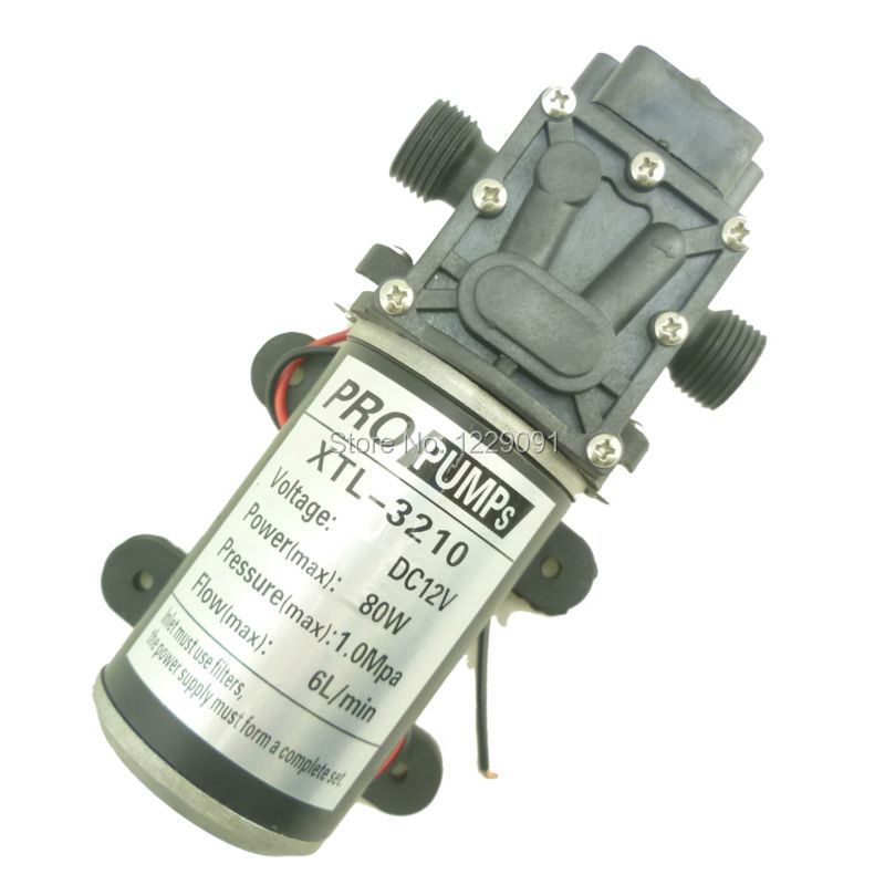 Return valve type - Diaphragm DC 80W 6L/min 12v dc high pressure water pump return valve type 12v 30w 3l min high pressure diaphragm dc micro water pump agriculture battery sprayer pump 12v dc water pump