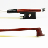 4/4 Size Genuine Pernambuco Violin Bow Model Master Sterling silver Thread Ebony Frog Natural Horsehair Violin Parts Accessories