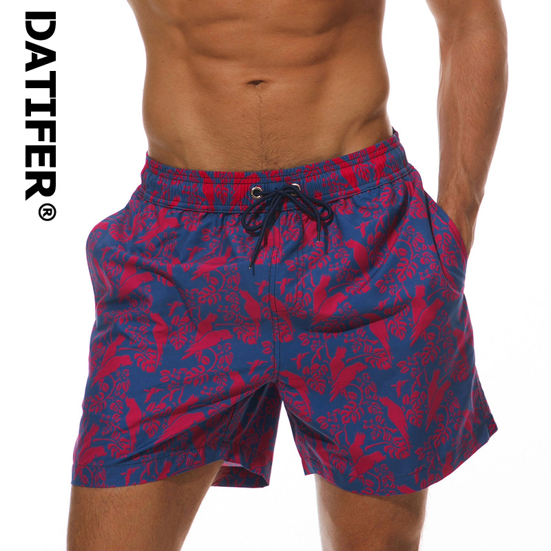 Brand DATIFER Summer Men's Board Shorts Quick Dry Beach Shorts Men Swimming Shorts Leisure Sport Running Surfing Shorts