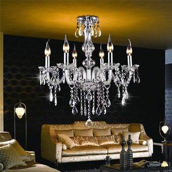 Modern Crystal Chandelier E12 Living Room lustres de crista l Decora Tiffany Pendants and Chandeliers Home Lighting Indoor Lamp