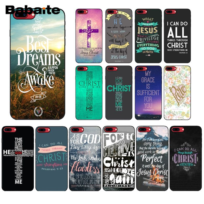 Tireless Babaite Bible Verse Philippians Jesus Novelty Fundas Phone Case Cover For Apple Iphone 8 7 6 6s Plus X Xs Max 5 5s Se Xr Cover Elegant In Style Phone Bags & Cases Cellphones & Telecommunications