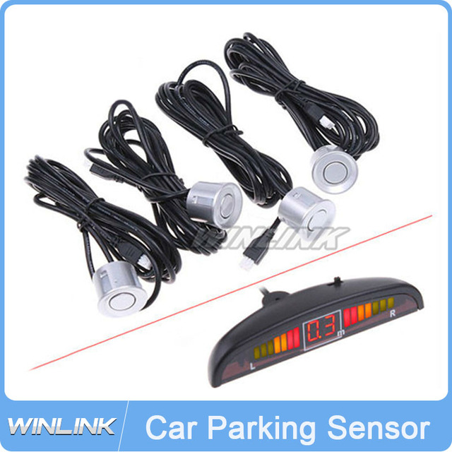 Wholesale LED Display Wired Wireless Parking Sensor Car Reverse Backup Rada Sensors switch button + 4 sensors choice All colors