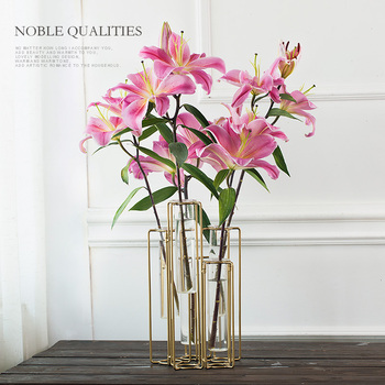 Modern Style Tabletop Folded  Flower Glass Vase Wedding Decorative Plant Bonsai Vase Home Decor Accessories Europe Creative Vase