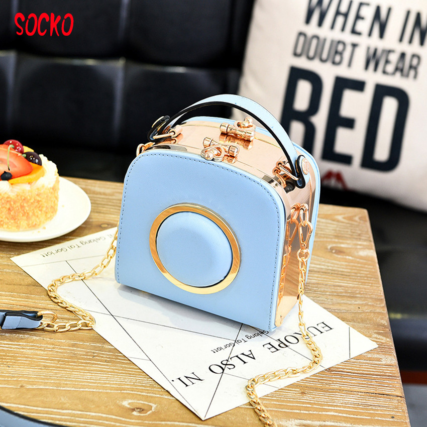 2017 New fashion new handbag cute camera bags package portable shoulder bag lady women single shoulder