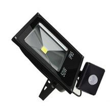 Projecteurs réglables extérieurs de PIR 10 W 20 W 30 W 50 W détecteur de mouvement LED projecteurs de réflecteur AC110V 220 V projecteur de lampe de mur