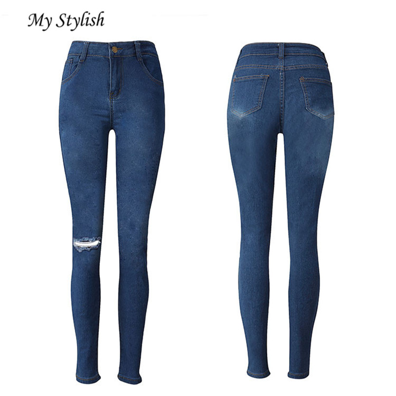 2017 Brand New Fashion Sexy Ladies womens Denim Skinny Jeans Stretch Pencil Trousers Slim Long Pants  High Quality Dec 15 facotry price ladies womens denim skinny jeans stretch pencil trousers slim long pants high quality women trousers dec 15