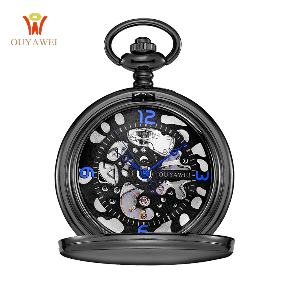 Steampunk 포켓 시계 OUYAWEI 새로운 디자인 럭셔리 - 회중 시계 - 사진 3