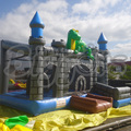 Envío gratis por mar dinosaurio comercial gorila inflable diapositiva de salto inflable trampolín para los niños