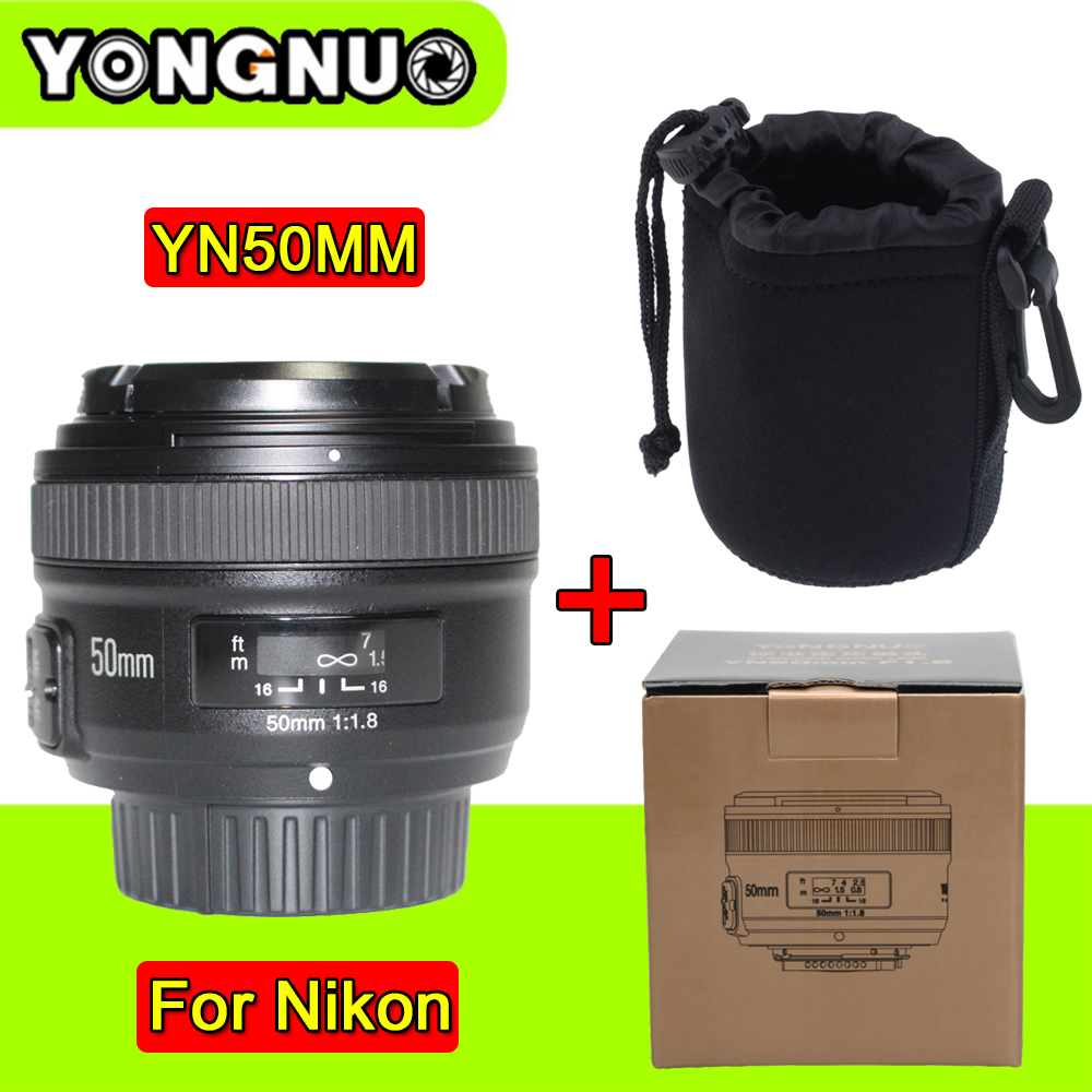 YONGNUO YN 50mm YN50MM Lens Fixed Focus Lens EF 50mm F/1.8 AF Lense Large Aperture Auto Focus Lens For Nikon DSLR Camera yongnuo 35mm camera lens f 2 af aperture auto focus large aperture for nikon d5200 d3300 d5300 d90 d3100 d5100 s3300 d5000