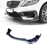 Carbon Fiber Front Lip Spoiler For Mercedes Benz S Class W222 S350 S400 S500 S63 S65 2014 2017 Bumper Guard Car Styling