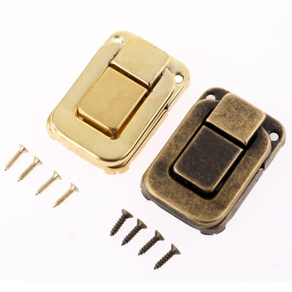 1 Stück Antike Box Riegel Dekorative Schublade Haspe Schmuck Holz Box Koffer Haspe Latch Toggle Mit Schraube Vintage Hardware 48 * 32mm Ein Kunststoffkoffer Ist FüR Die Sichere Lagerung Kompartimentiert