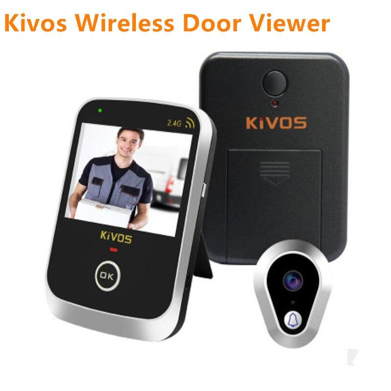 KiVOS 3.5 Oeil De Porte Numérique Judas de Porte Sans Fil Spectateur 2.4 ghz Vidéo Sonnette Caméra Moniteur pour La Maison Appartement