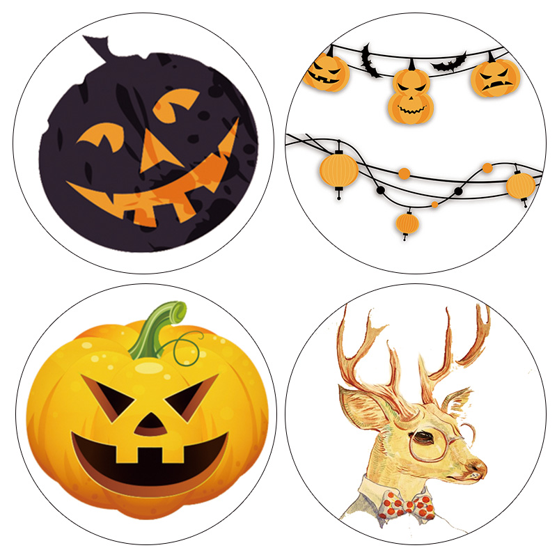 DIY Japanese Paper Washi Tapes Halloween Pumpkin Deer Masking Tapes decorative Adhesive Tapes 15mm*10m Alideco