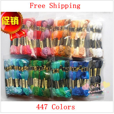 Fast Shipping Embroidery Floss Cross Stitch Floss Yarn Thread 447 pieces Similar DMC Thread
