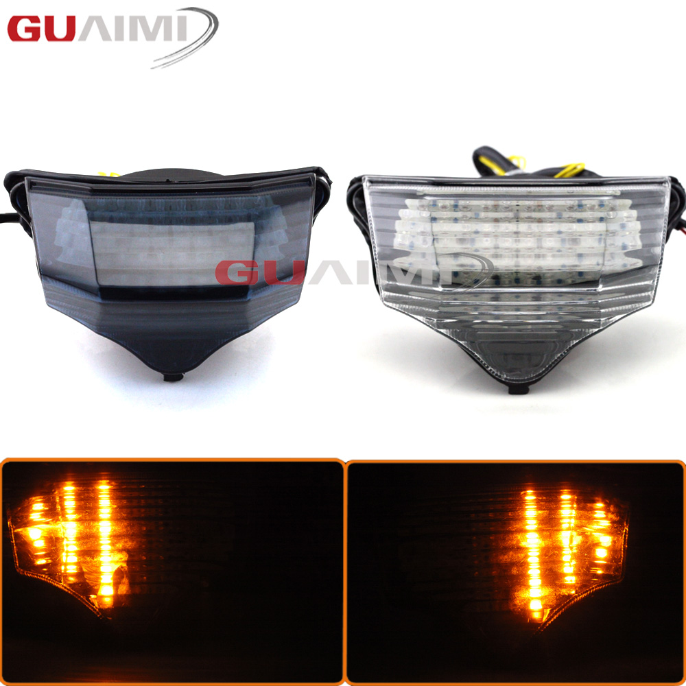 for <font><b>Yamaha</b></font> FZ600 <font><b>FZ6</b></font> FAZER 2004 2005 <font><b>2006</b></font> 2007 2008 2009 Motorcycle LED taillights brake assembly with steering rear tail light image