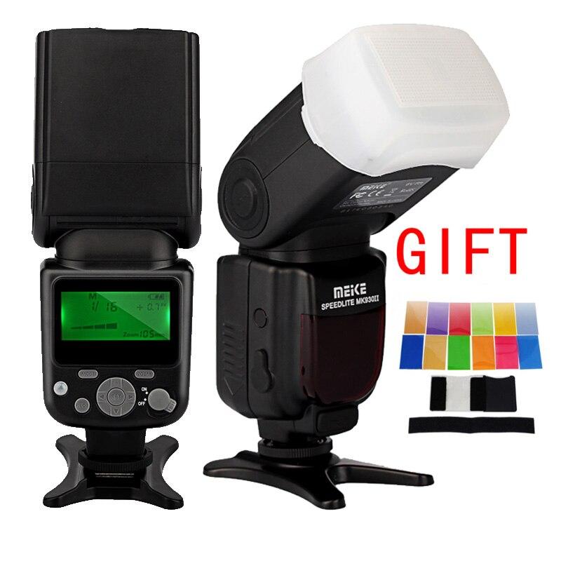 Майке MK-930 II Вспышка фото вспышка радио Speedlite для Canon Nikon Pentax Olympus DSLR камера с диффузором цвет фильтр