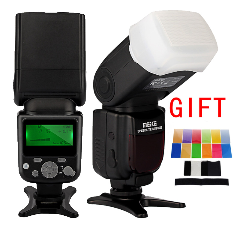 MEIKE MK 930 II Flash Photo Speedlight Radio Speedlite for Canon Nikon Pentax Olympus DSLR Camera With Diffuser Color filter