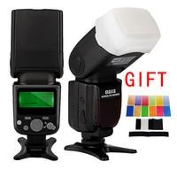 MEIKE MK 930 II Flashlight Photo Speedlight Radio Speedlite for Canon Nikon DSLR Camera Flash Lamp With Diffuser Color filter