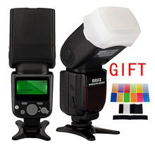 MEIKE MK-930 II lampe de poche Photo Flash Radio Speedlite pour Canon Nikon DSLR appareil Photo Flash lampe avec diffuseur couleur filtre(China)